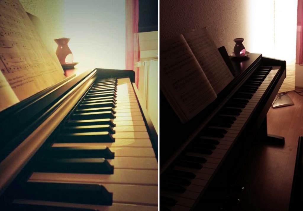 sitzen am klavier