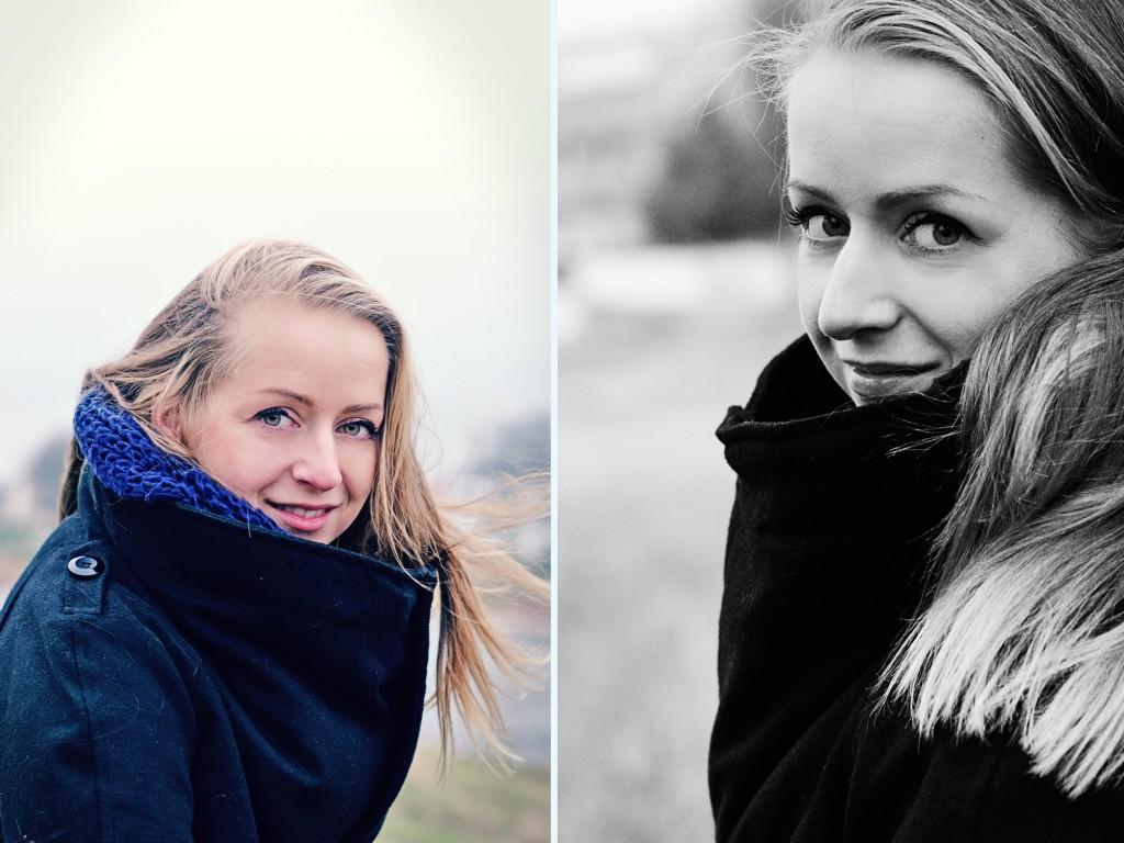 Fotografie Portrait Dresden Frau Blaues Wunder