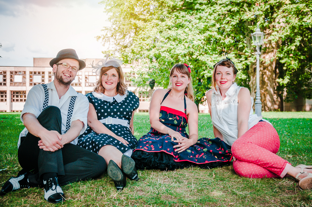 Junggesellinnenabschied Fotoshooting Pin Up Style