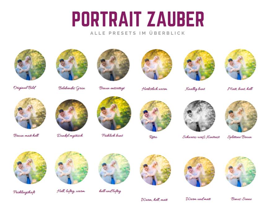 Alle Portrait Zauber Presets