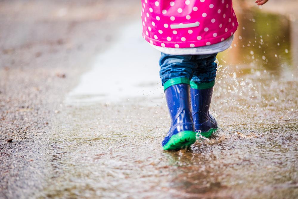Kontraste und eingefrorene Regentropfen.