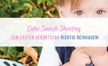 Cake Smash Shooting zum ersten Geburtstag